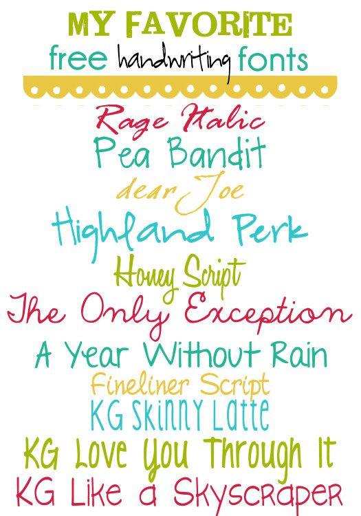 Free Fonts - Handwriting @Kristyn {Lil' Luna}