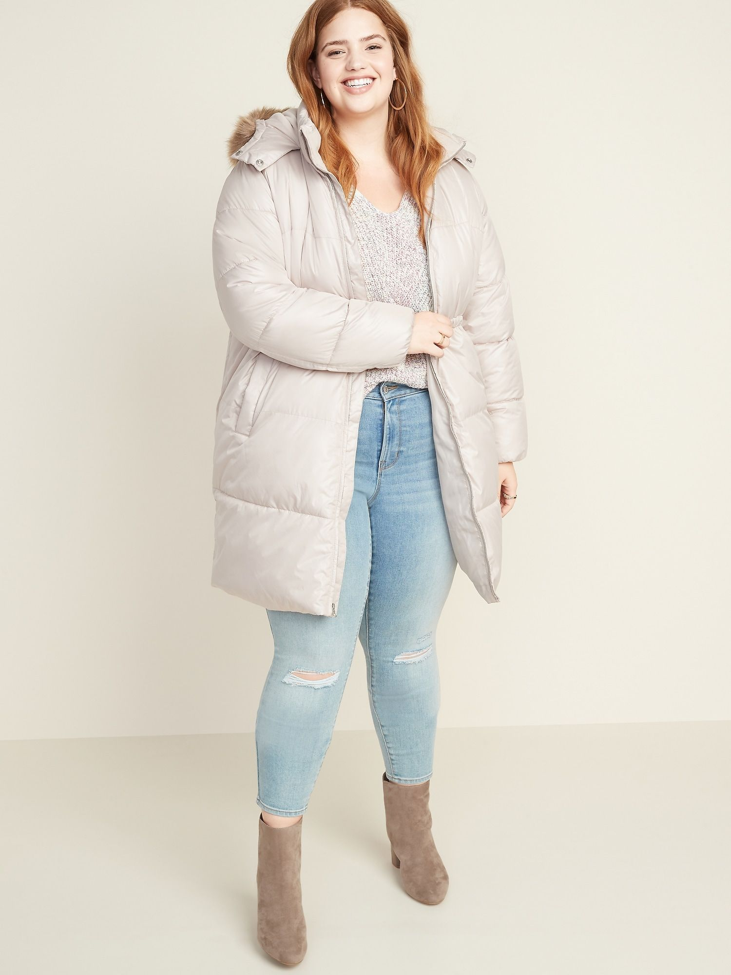 Frost Free Hooded Plus Size Long Line Puffer Jacket Plus Size Fashion Plus Size Coats Plus Size Outfits [ 2000 x 1500 Pixel ]