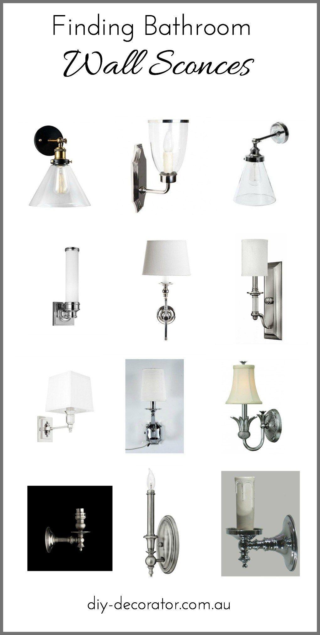 Ensuite Reno Wall Sconces Diy Decorator Bathroom Wall Sconces Wall Sconces Living Room Lighting Wall Sconces Bedroom