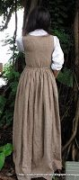The Costume Mercenary: Elizabeth Bennet's Brown Linen Jumper Dress