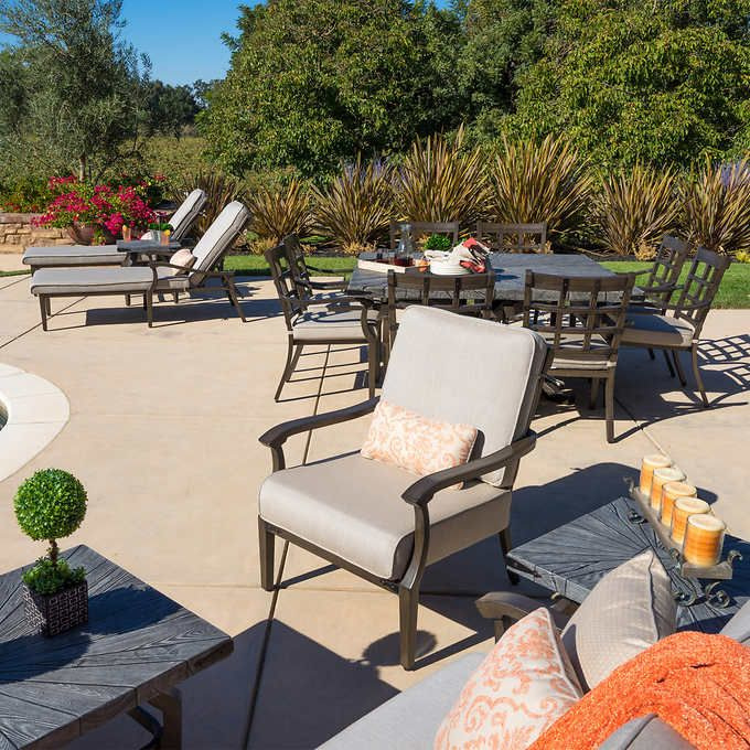 Rustic 17 Piece Estate Collection Outdoor Furniture Sets