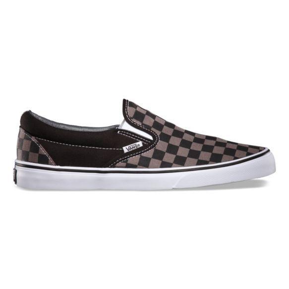 Mens slip on shoes, Grey slip on vans