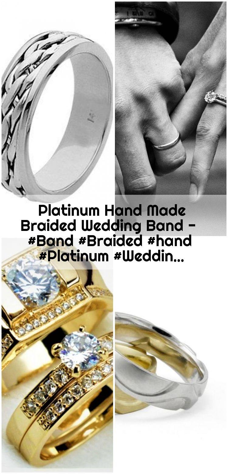 Platinum Hand Made Braided Wedding Band Band Braided