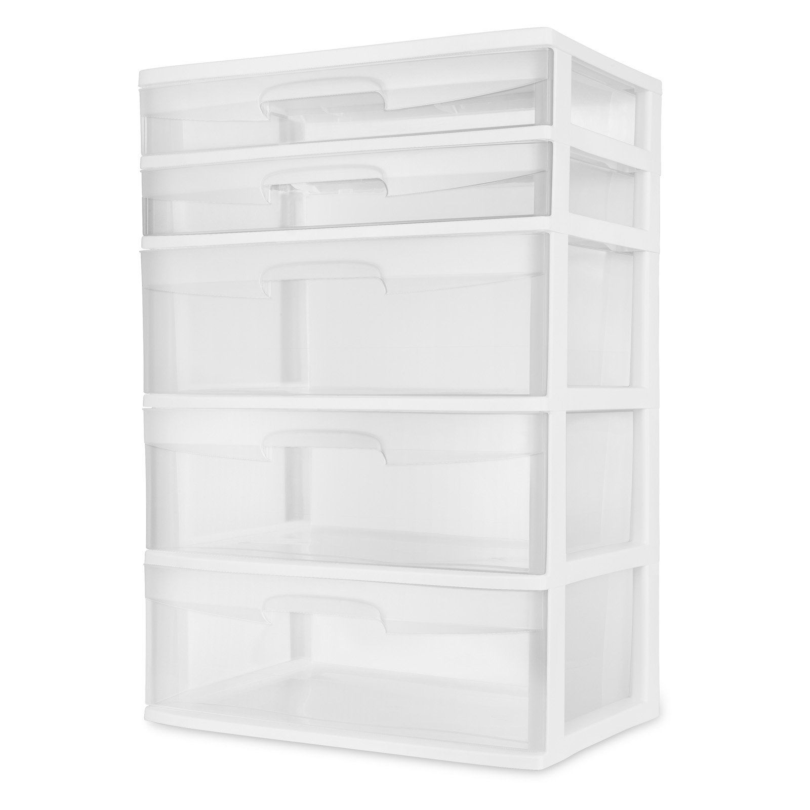 Sterilite 5 Drawer Wide Tower White Drawers Home Decor