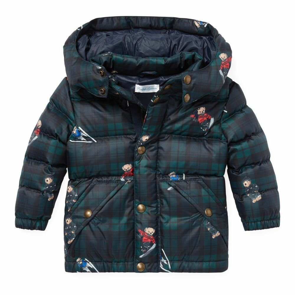 Ralph Lauren Polo Baby Boy Bear Plaid Down Jacket Coat Size 12 Months Poloralphlauren Snowsuit Eve In 2020 Winter Outfits Warm Baby Boy Jackets Womens Parka Winter