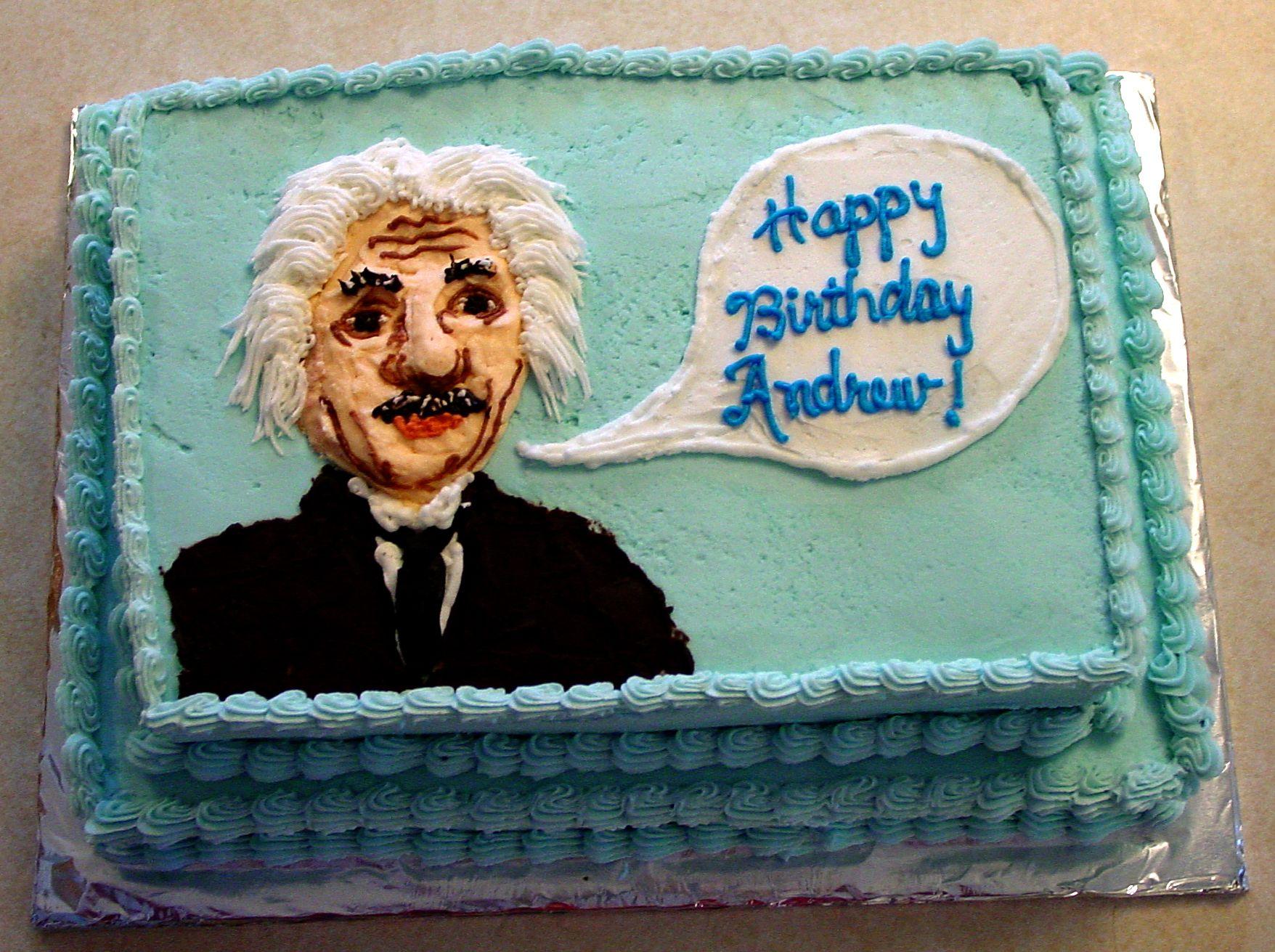 Albert Einstein Birthday Cake Albert Einstein Birthday Science Birthday Party Ideas Science Birthday