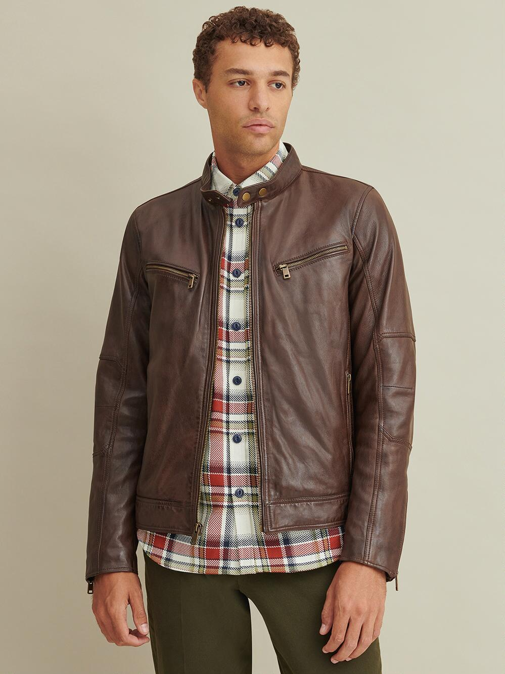Brent Leather Moto Jacket Moto jacket, Jackets, Leather men