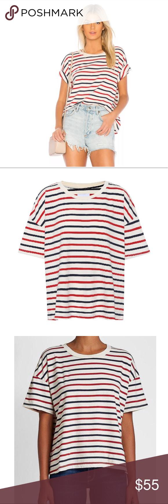 Current/Elliott The Roadie Tee in stripe Sze 3 Clothes