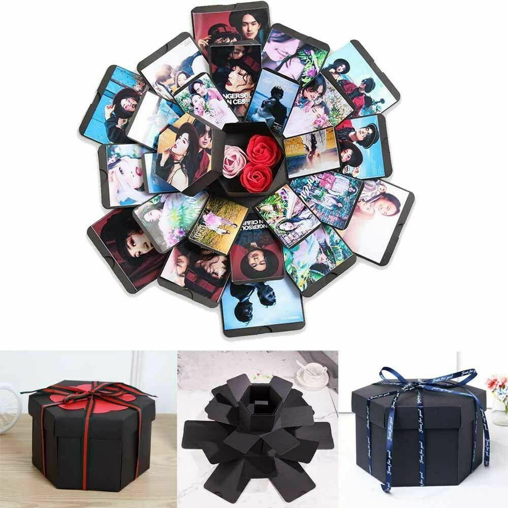 Surprise Love Explosion Box DIY Photo Album Memory Scrapbook Anniversary Gift