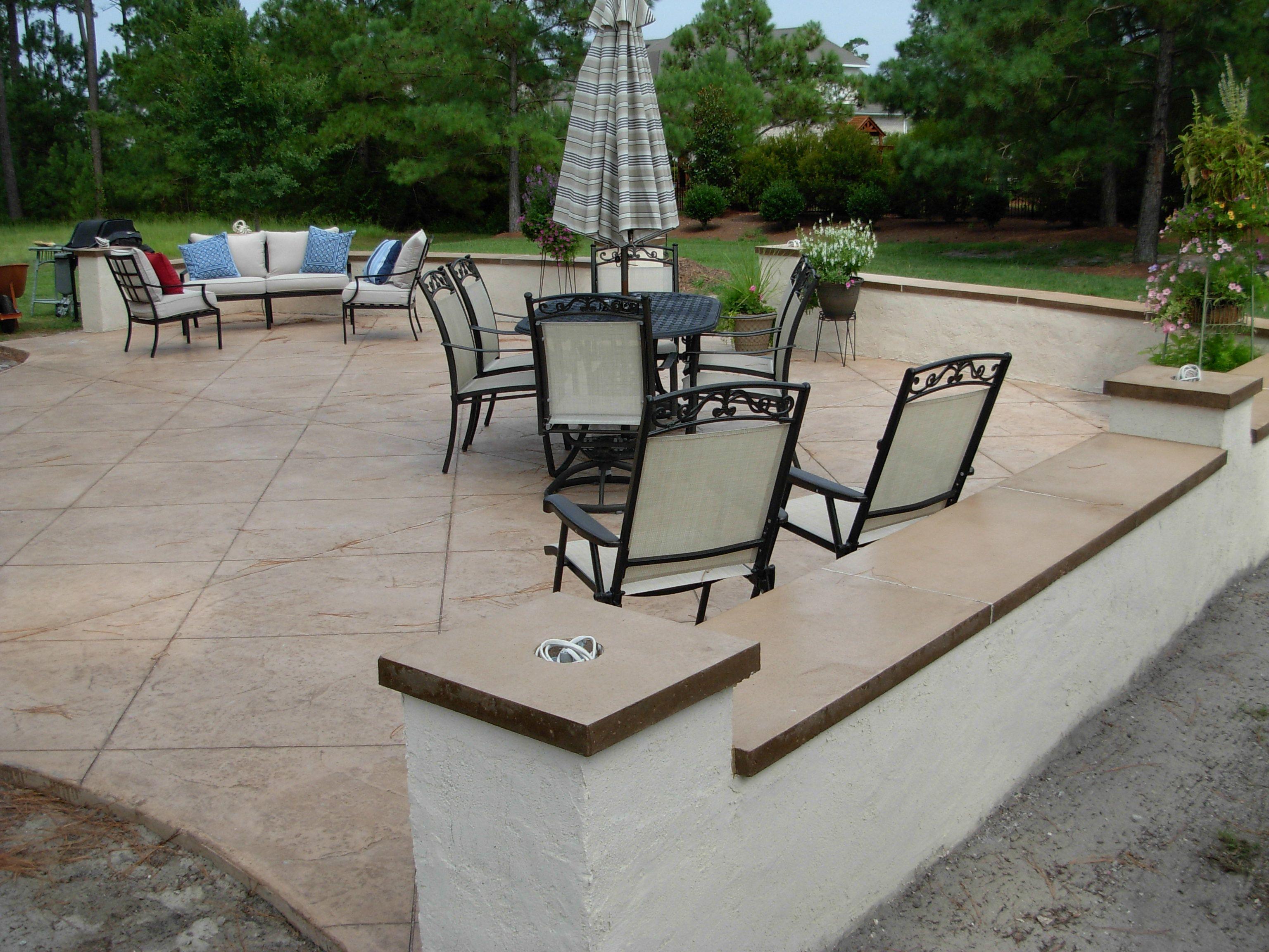 taupe eagle concrete stain - Concrete Tile Garden Decor
