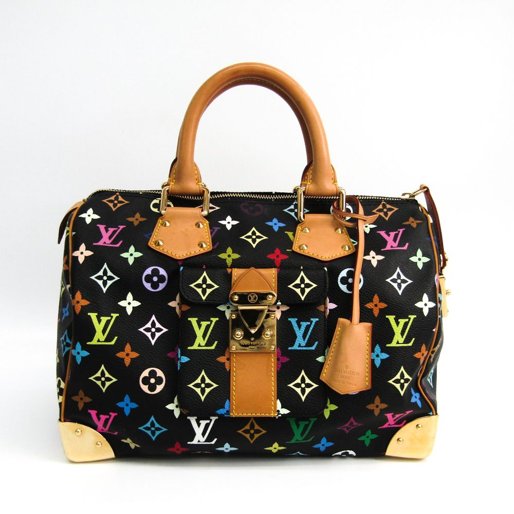 f0a705ec739f  louisvuitton Monogram Multicolore Speedy 30 M92642 Women s Handbag Noir