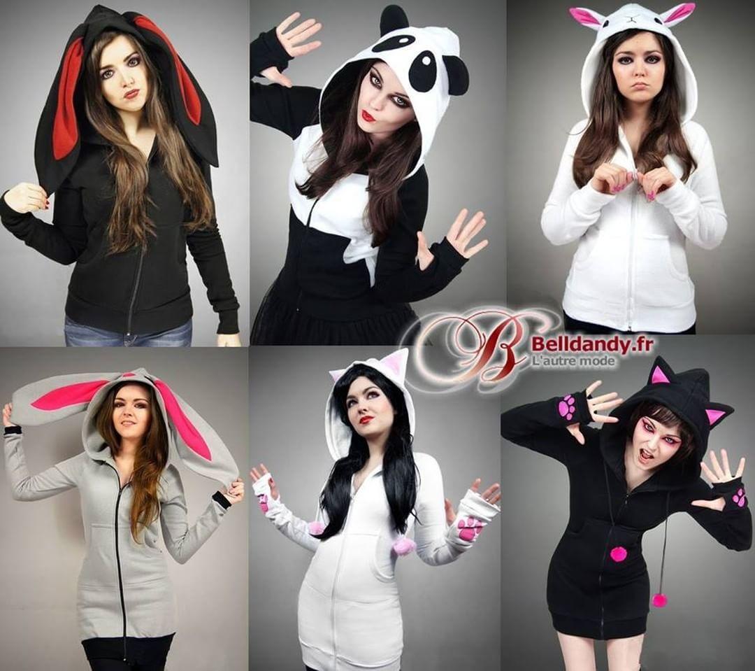 Chat Lapin Mouton ou Panda ?  Sweat Veste Kawaii Capuche Oreilles  http://www.belldandy.fr/catalogsearch/result/index/?dir=desc&order=nouveautes&q=pcbl  #belldandyfr