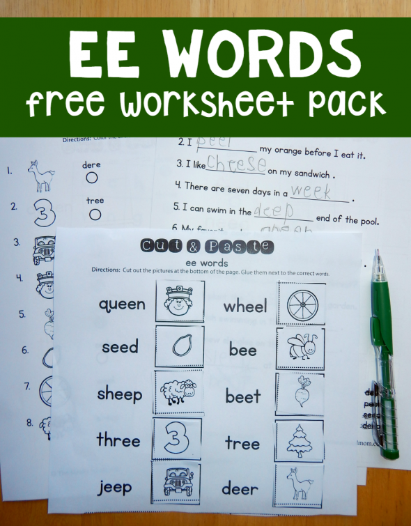 Free ee worksheets | Words, Free worksheets and Worksheets