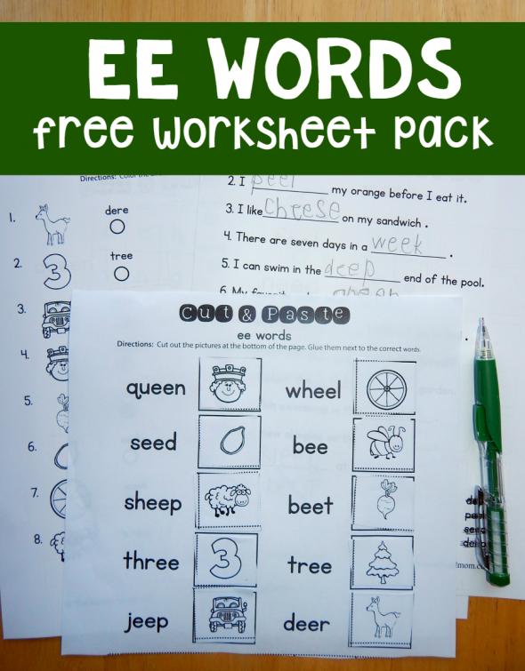 free ee worksheets free printables pinterest worksheets phonics and kindergarten. Black Bedroom Furniture Sets. Home Design Ideas