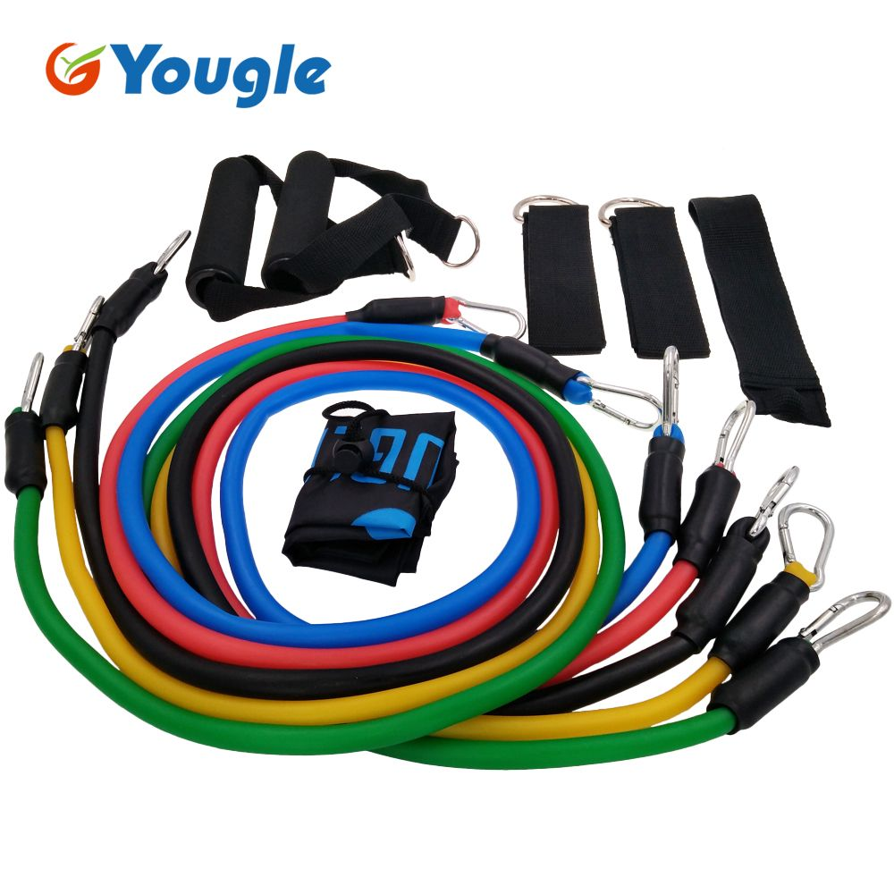 YOUGLE 11pcs/set Pull Rope Fitness Exercises Resistance Bands ...