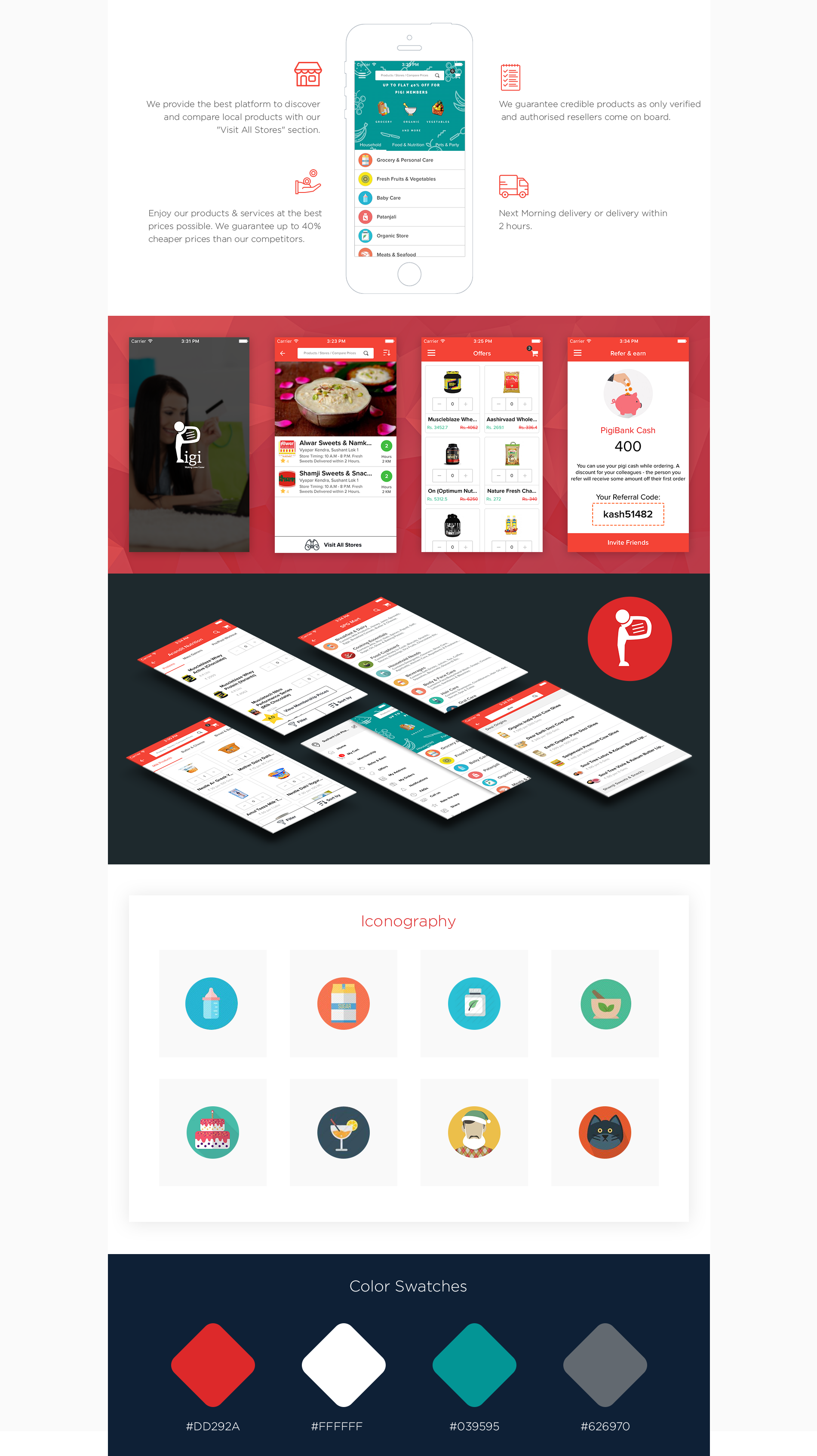 "Check out our @Behance project: ""Pigi - #Shopping #App for #iPhone"