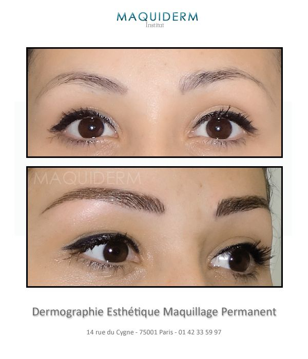 Maquillage permanent sourcils paris 75 maquiderm - Maquillage permanent sourcil poil poil ...