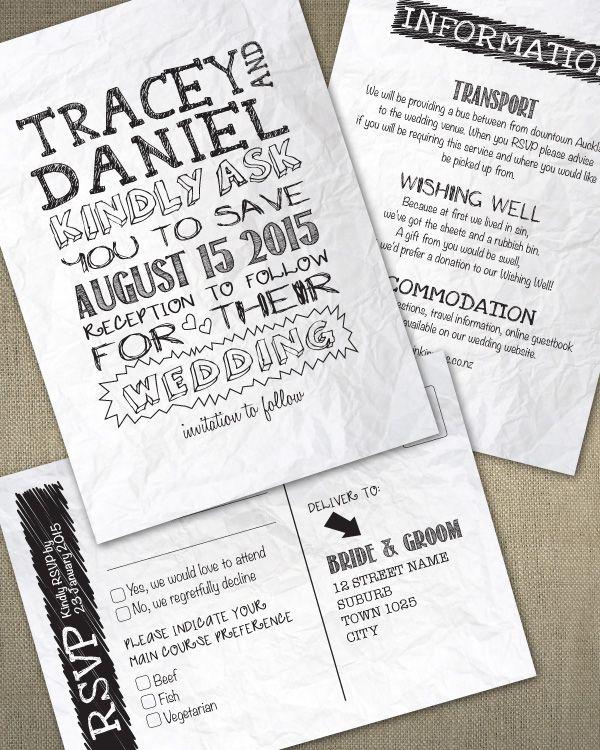inkinvites.co.nz Handwritten wedding invitations