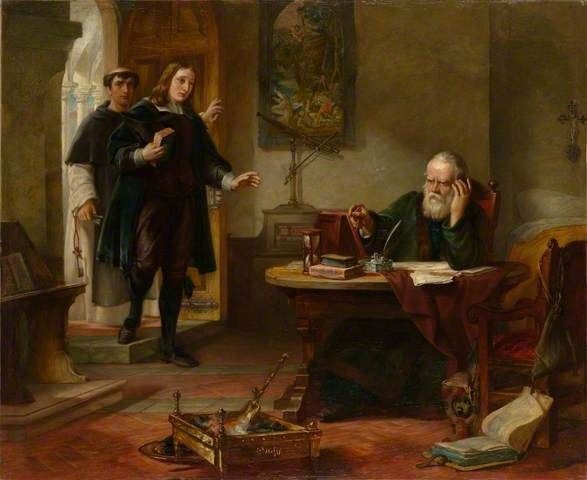 HART, Solomon Alexander English Neoclassical (1806-1881)_Milton Visiting Galileo when a Prisoner of the Inquisition 1847