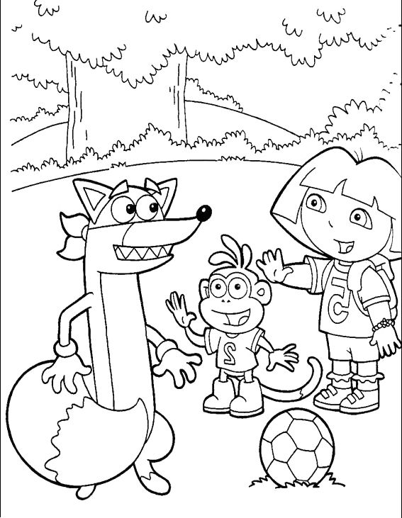 Say Hello To Swiper Dora And Boots Coloring Pages Dora The