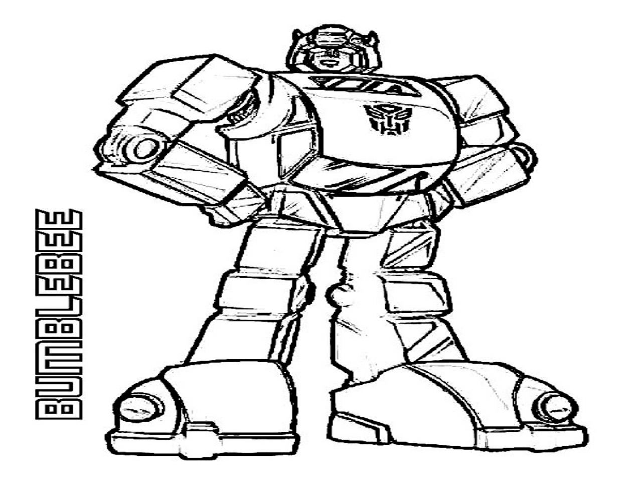 Bumble Bee From Transformers Free Colouring Pages