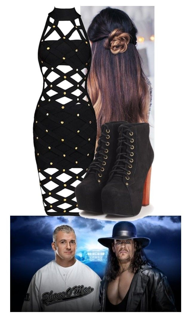 """On Now!!!!"" by carmellahowyoudoin ❤ liked on Polyvore featuring Jeffrey Campbell and WWE"