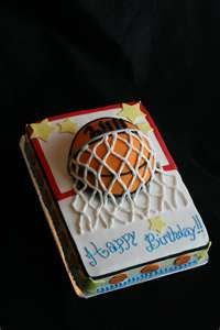 This Basketball Cake has a fondant top and buttercream iced sides ...