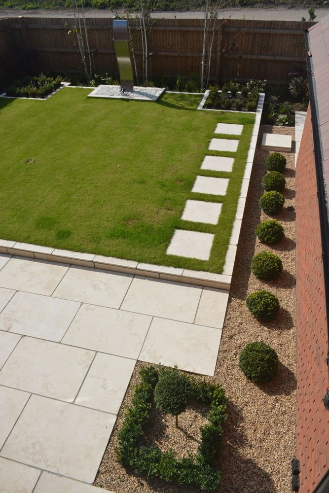 Dijon Tumbled Egyptian Limestone paving | new house garden ...