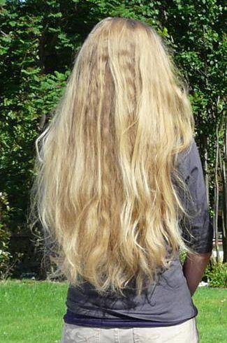 Haare verdunnen