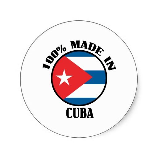 made in cuba round sticker where can i get stickers made
