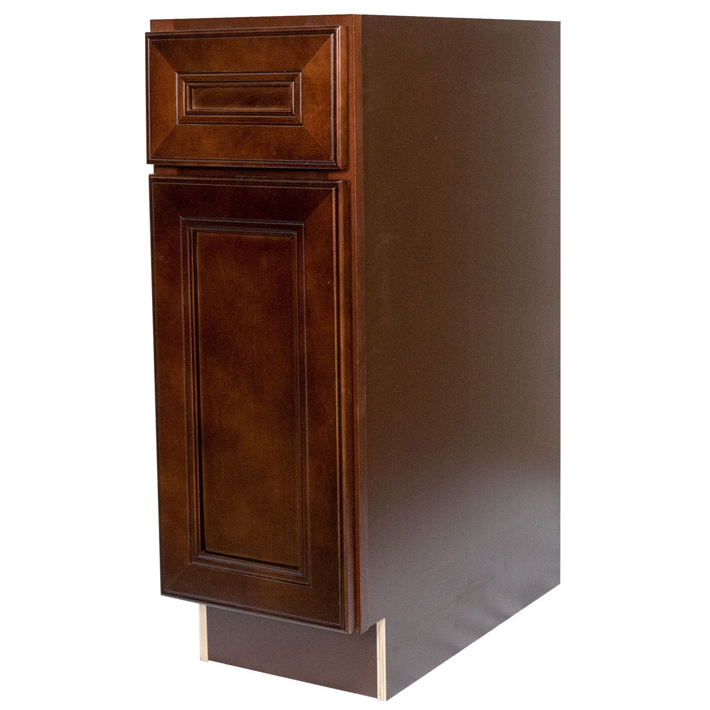 Everyday Cabinets 12-inch Cherry Mahogany Brown Leo Saddle ...