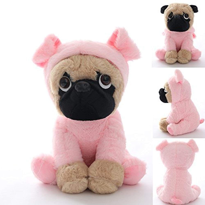 Joy Amigo Stuffed Pug Dog Puppy Soft Cuddly Animal Toy In Costumes