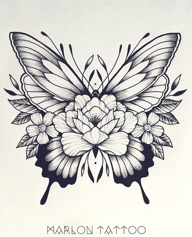 Tattoo ideas for lower back hmm i donut usually like butterflies but i like this  tatoo