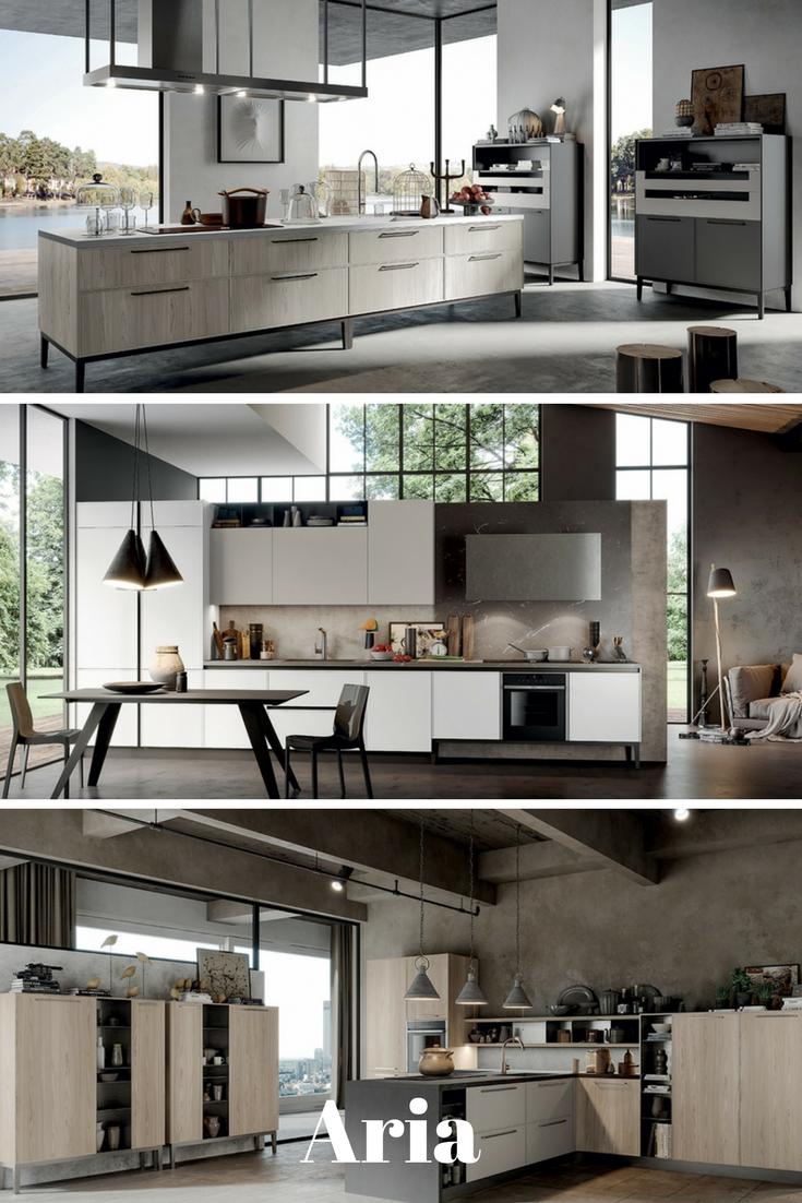 Arredo3 - Novità 2017: Aria, la cucina con lo speciale basamento ...