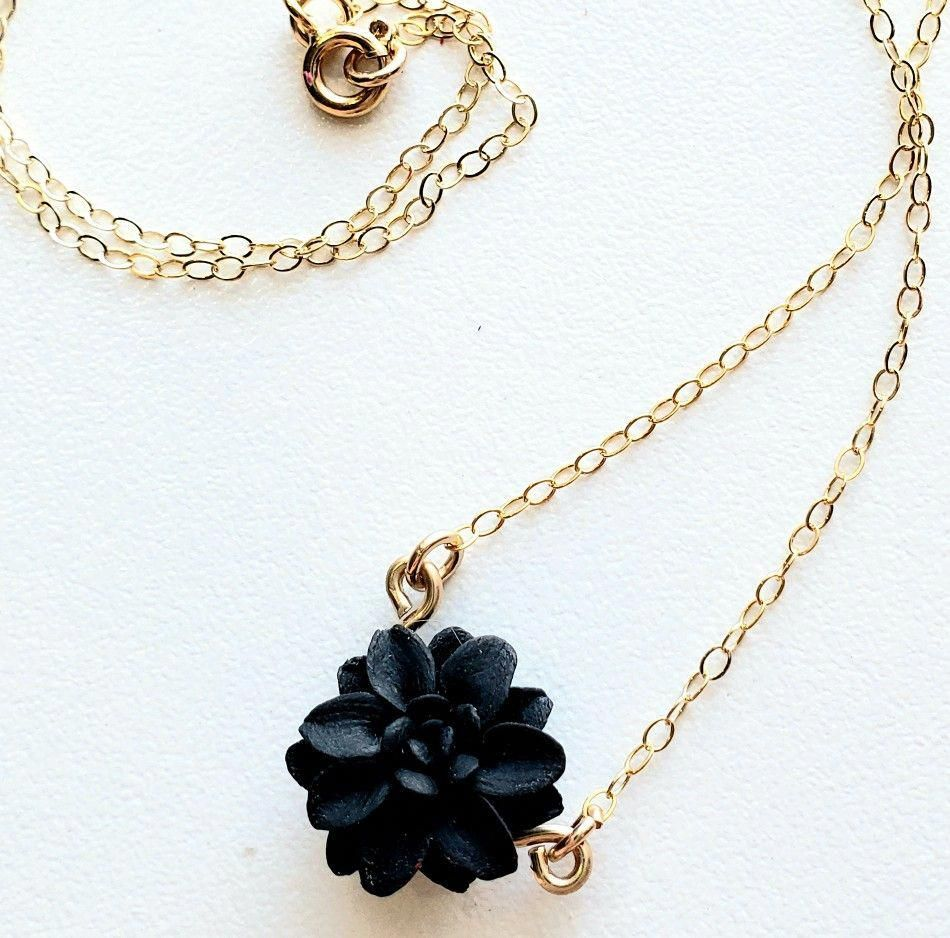 Black Dahlia Necklace in 2020 Simple necklace, Jewelry