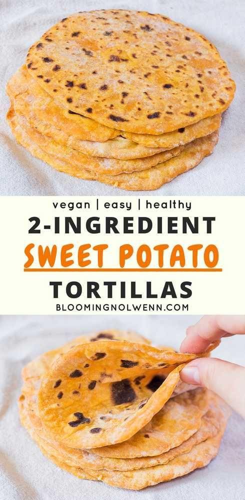 Vegan Sweet Potato Tortillas   2 Ingredients, Oil-Free,  Vegan Sweet Potato Tortillas   2 Ingredients, Oil-Free,