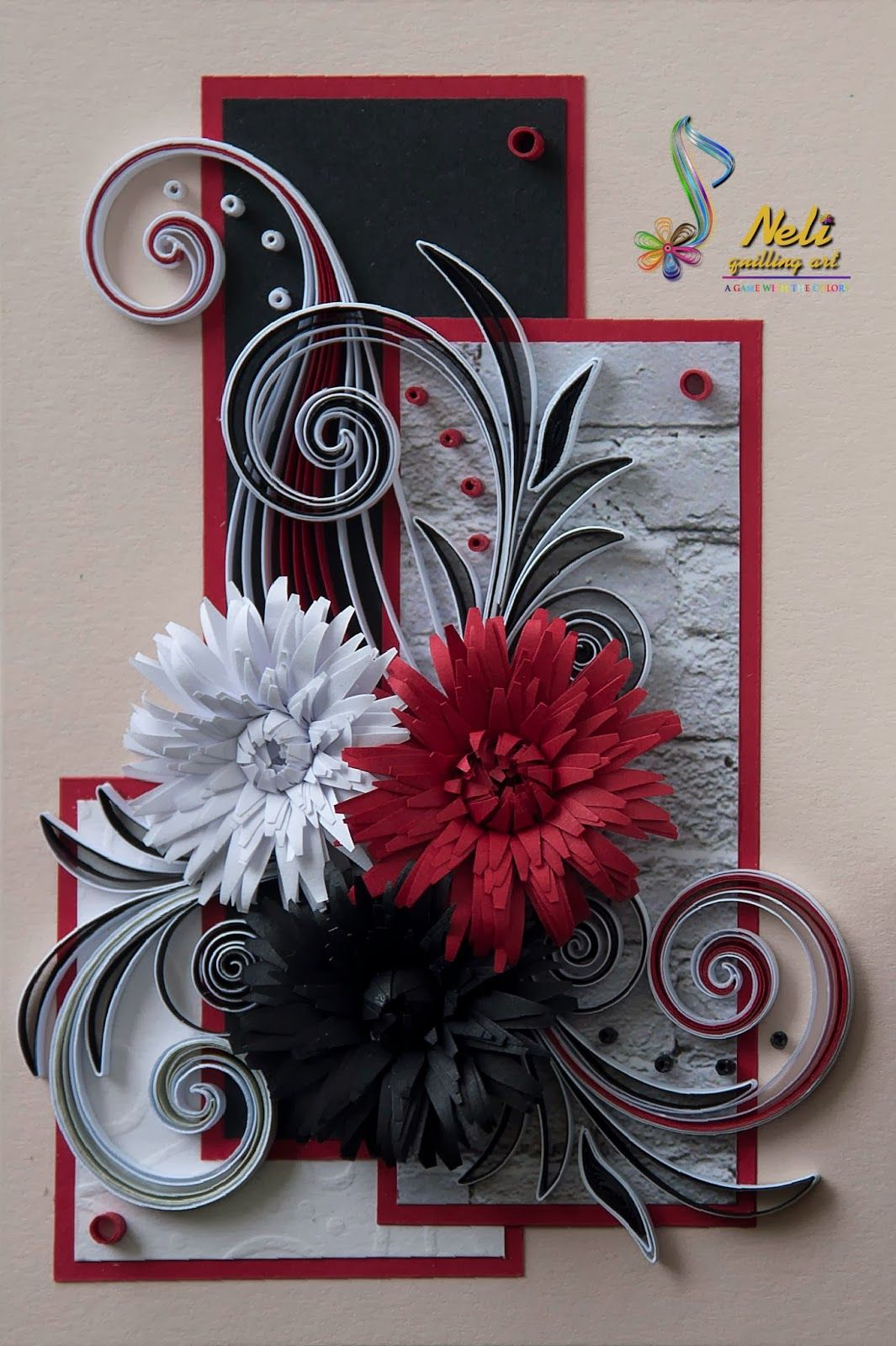 neli: Quilling cards - flowers                                                                                                                                                                                 More