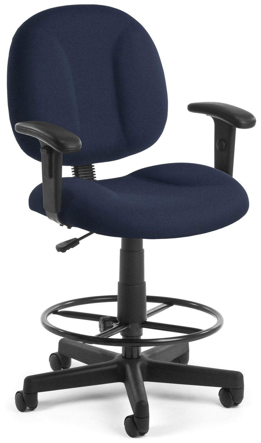 Comfort series navy color fabric super office chair with