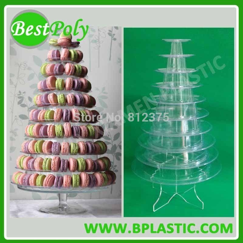 1 Set 10 Tiers Macaron Holder French Macaron Display Macarons Pyramid Display Free Shipping Macaron Tower Macarons Cake And Cupcake Stand