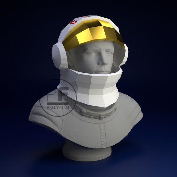 astronaut helmet paper model origami helmet mask nasa