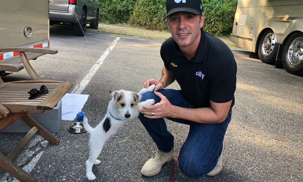 Meet Jimmie Johnson's adorable 12weekold puppy, Charlie