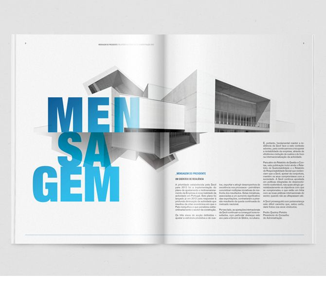 Secil | Annual Report '13 on Behance