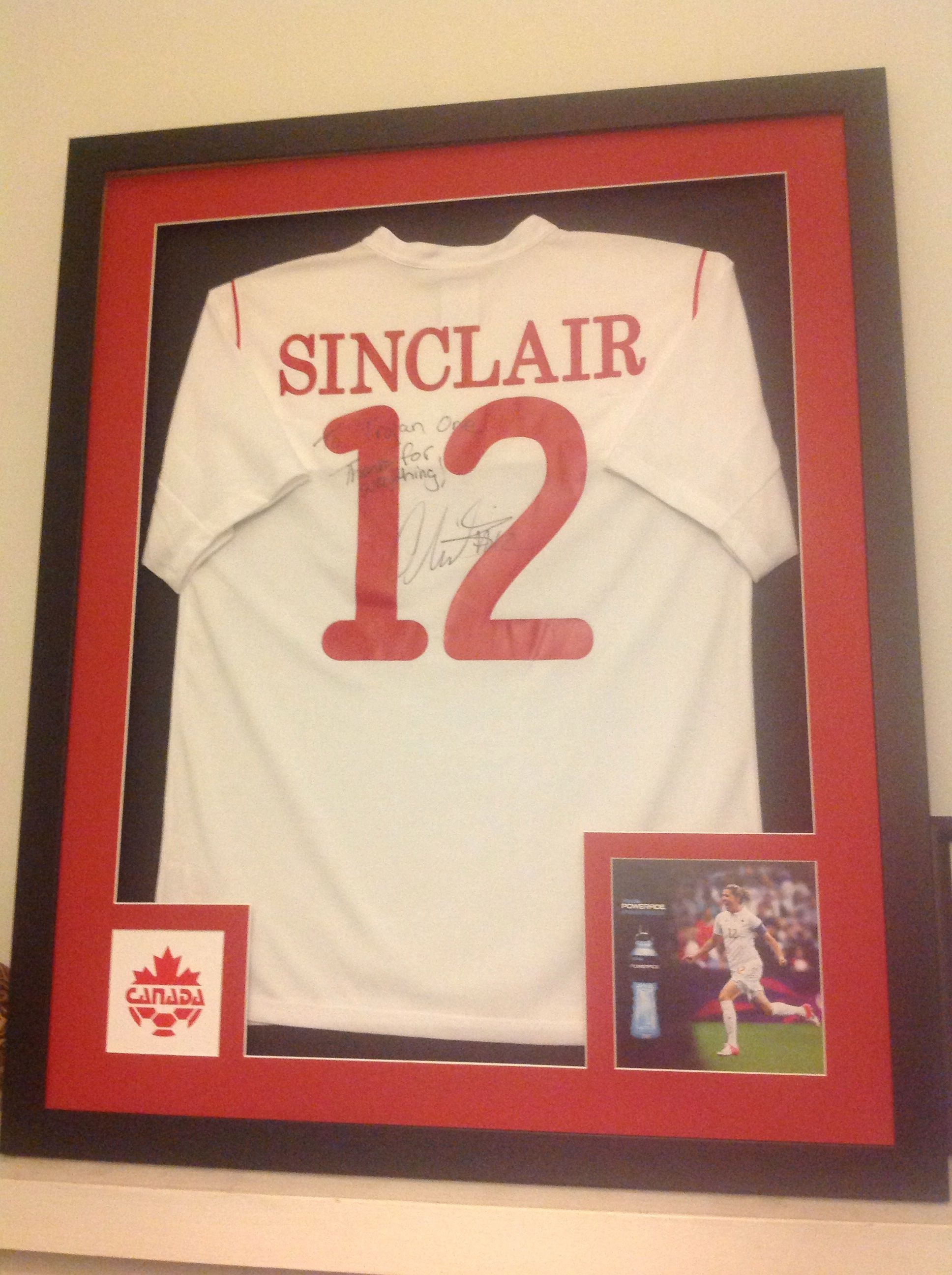 Signed Jersey Photo And Logo Shadowbox Frame We Can Do It