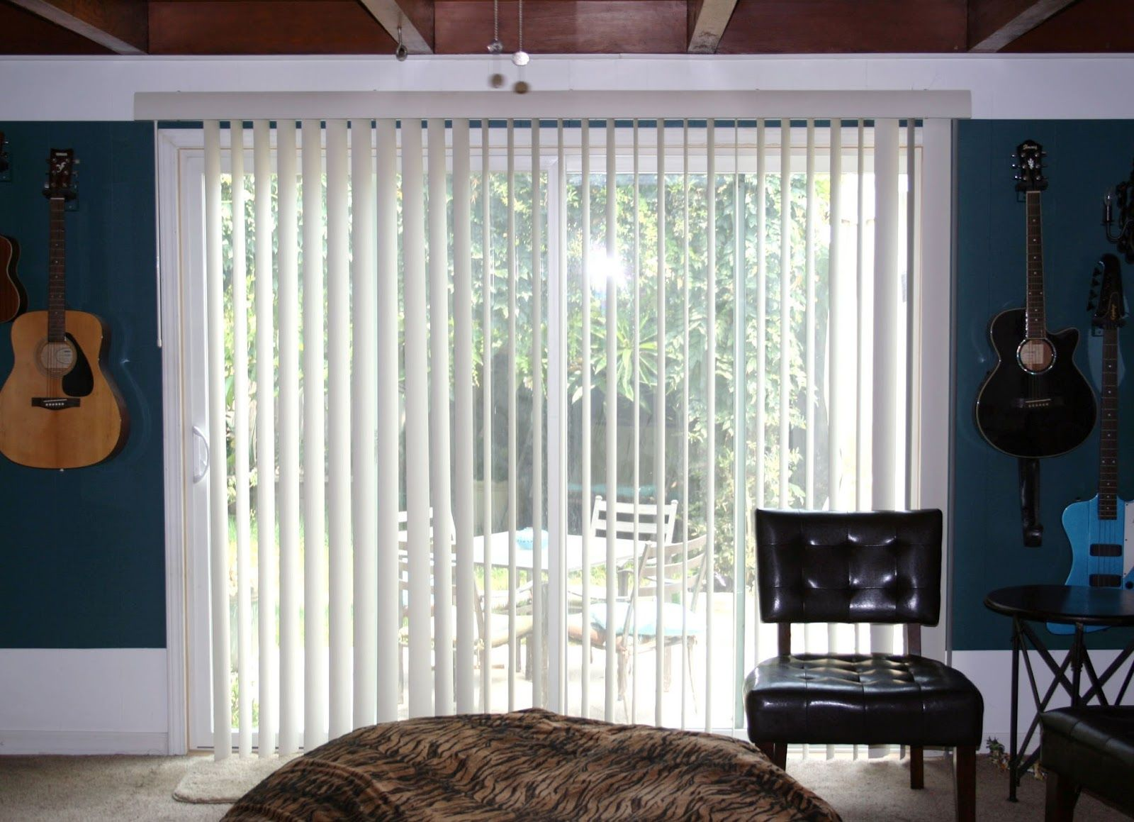 Hanging Curtains On A Vertical Blind Track Creating A Fabric Valance