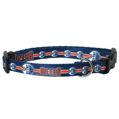 Edmonton Oilers Pet Dog Adjustable Collar All Sizes Small Check This Awesome Product By Going To The Link At The Image Edmonton Oilers Pet Collars Oilers