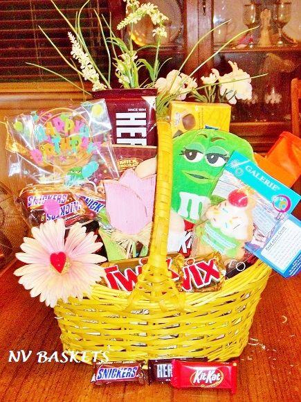 Birthday Mu0026M colorful & Birthday Mu0026M colorful | BIRTHDAY GIFT BASKETS | Pinterest | Basket gift