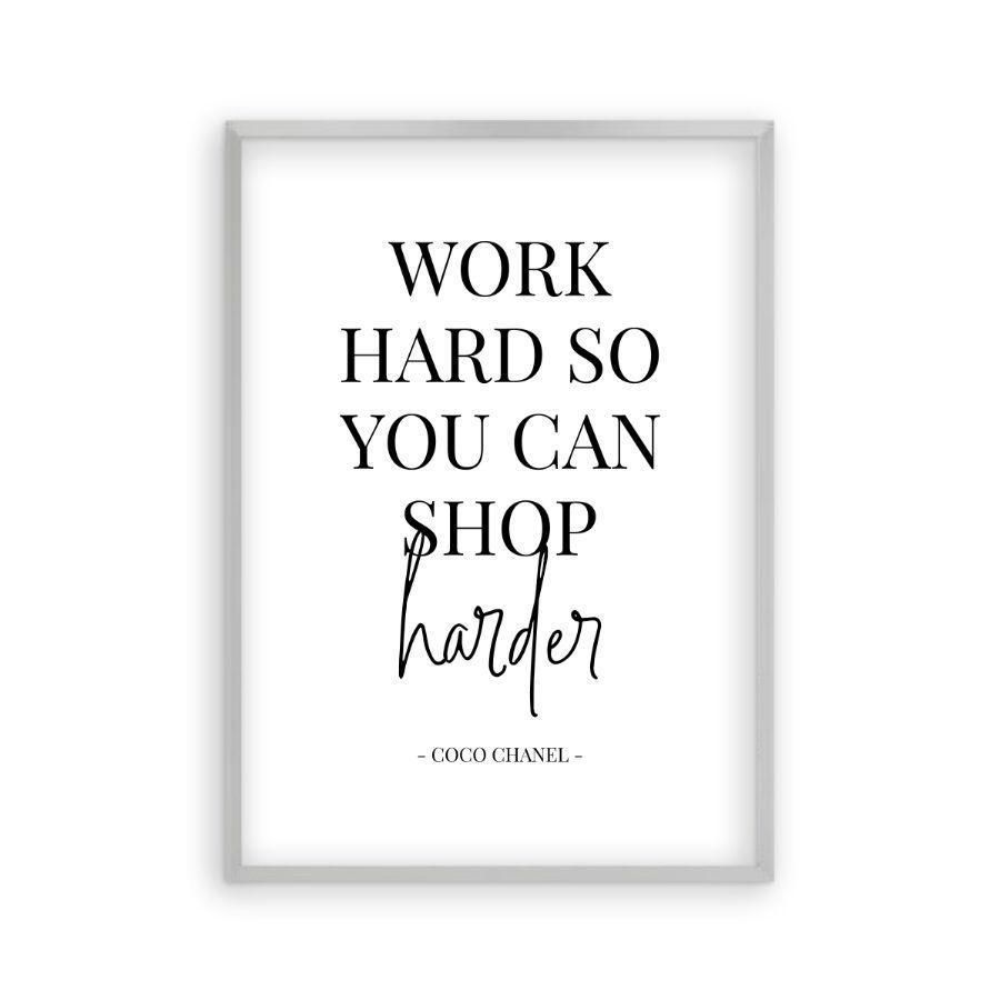 Photo of Arbeiten Sie hart, damit Sie härterer Druck kaufen können – Mattsilberner Rahmen / 12 x 16