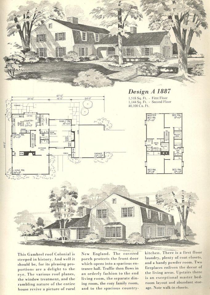 Vintage Home Plans Gambrel 1887 Vintage House Plans Vintage House House Plans