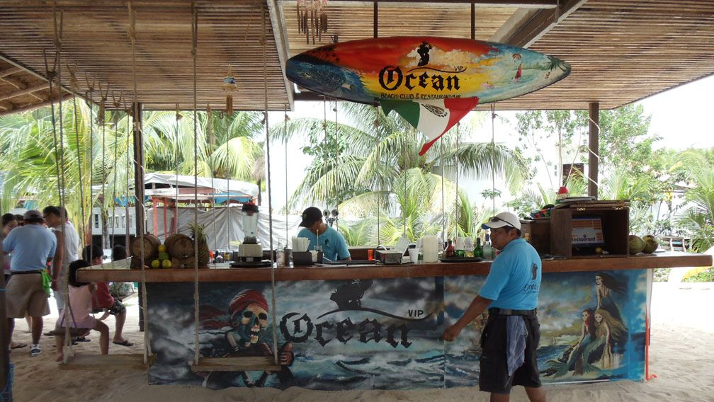 The Bar At Ocean Beach Club In Cozumel Mexico Snorkel Day