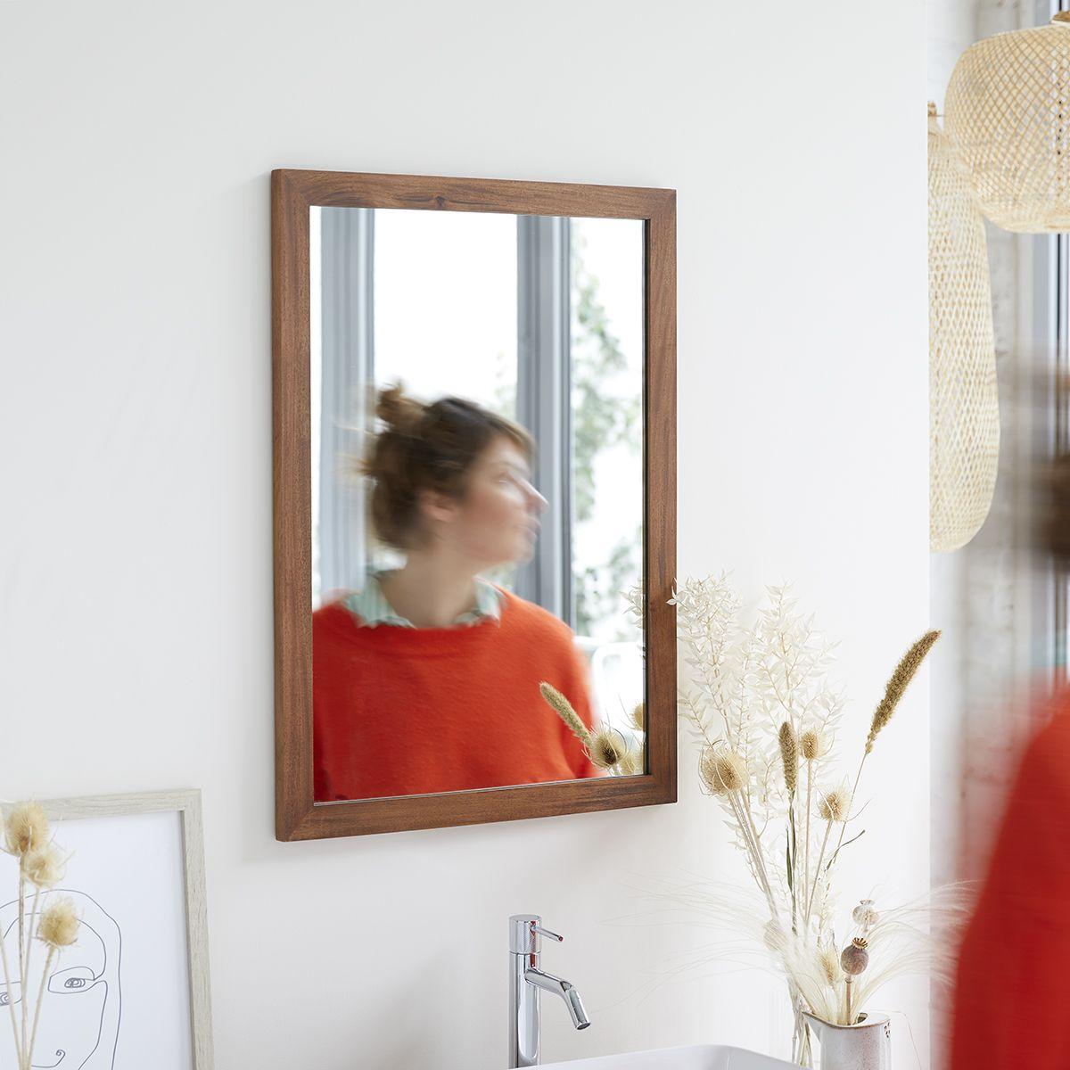 Spiegel Aus Mahagoni 70x50 Loggia In 2020 Badezimmerspiegel Mahagoni Und Spiegel